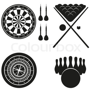 icon of games for leisure black silhouette illustration