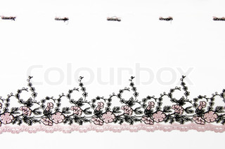 pink folwer lacework