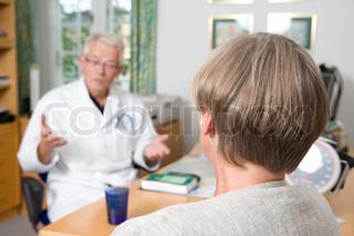 Billede af 'læge, samtale, patienter'
