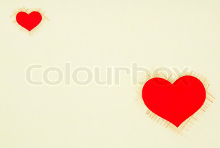 Texture card with a red heart