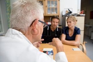 Billede af 'samtale, læge, patient'
