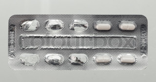 Close up of a capsules blister packaging