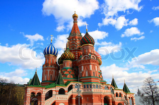 church St. Basil's Cathedral  in Moscow