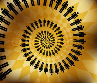 business work team concept spiral nautilus Vector illustration on abstract background