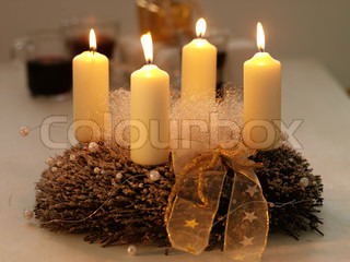 Advent  candle used for Christmas decoration