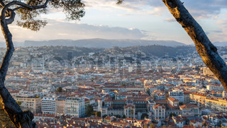 View of Nice city - Côte d'Azur -France