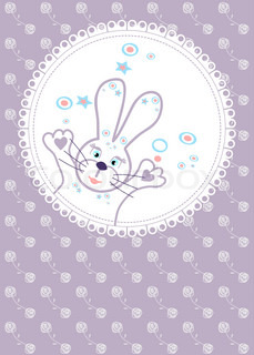 soft background for a birthday with roses and bunny