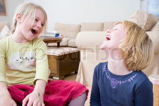 Two laughing girls