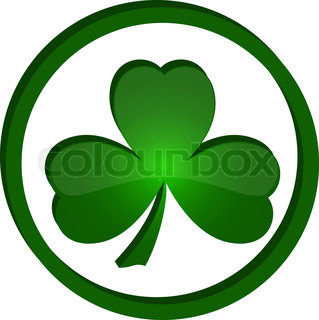 Green Shamrock As A Symbol Of St Patrick 39 S Day Isolated