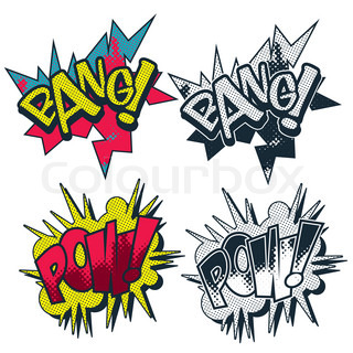 bang pow comic style illustrated vector graphiceps