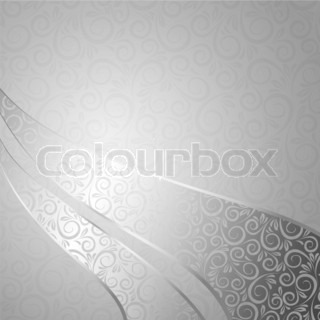 Abstract backdrop with floral elementsIllustration