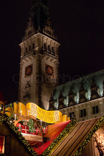 traditional christmas market in Hamburg, Germany