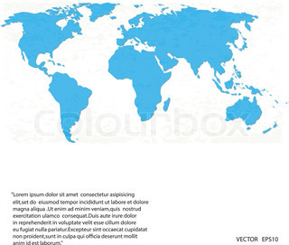 vector blue world map on white background,eps 10