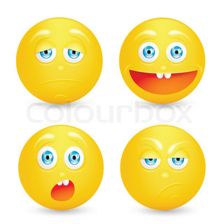 Vector illustration set of emoticons