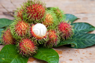Rambutan is one of delicious thai fruit