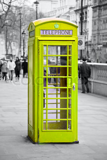 Roten Telefonzelle in London