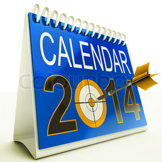 2014 Kalender Ziel Zeigt New Year Plan