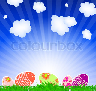 Vector illustration background witheaster eggs