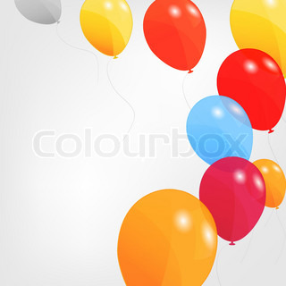 set of colored balloons, vector illustration EPS 10