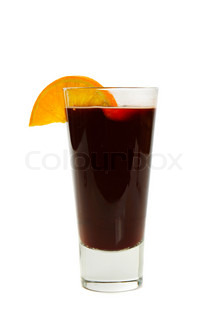 Mulled wineisolated on white