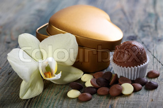 Handmade chocolates and flowers