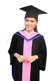woman with graduation cap and gown