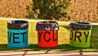 The Colorful Recycle Bins