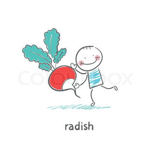 Radishes and people