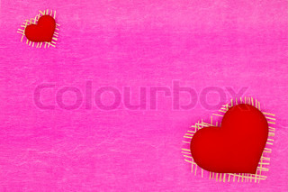 background paper and a red heart