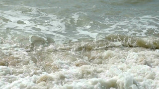 Water waves on the beach