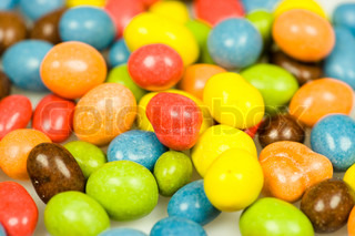 Candy in color variations