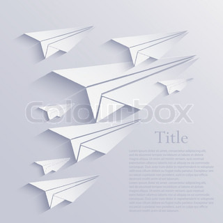 Vector origami airplane icon background. Eps10 | Vector ...