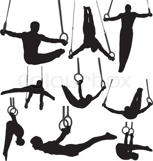Gymnastics Rings Silhouettes