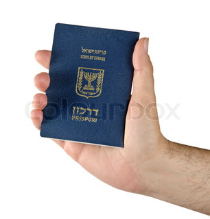 Israel passport in hand of the holder