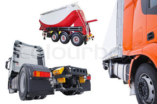 The image of truck and semitrailers