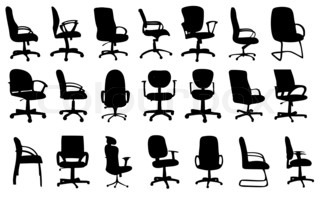Office chairs silhouettesillustration