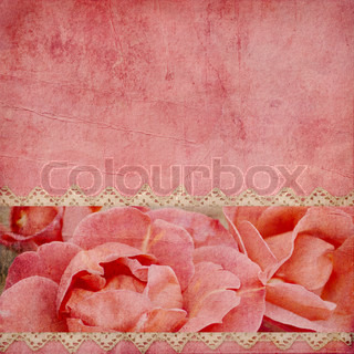 beautiful wedding background withhorizontal roses banner and lace