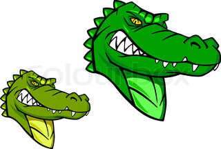Green wild alligator in cartoon style for sports mascot ... - photo#15