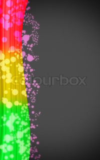 Rainbow card with colorful spots