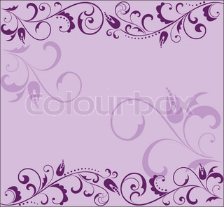 Floral lilac background