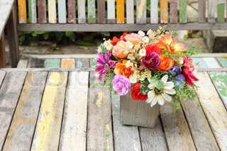 colorful flowers pots decoration