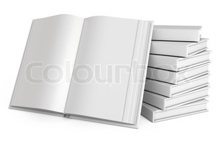 Stack of books Open white book