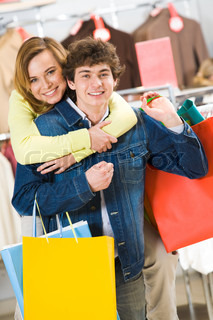 Shoppers in love