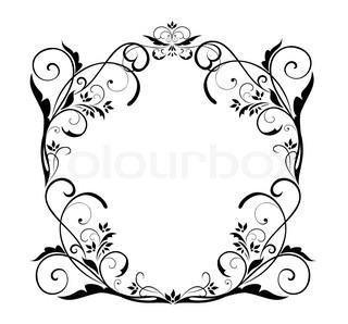 hochzeit floral frame stock vektor colourbox. Black Bedroom Furniture Sets. Home Design Ideas