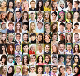 Portrait of beautiful young people