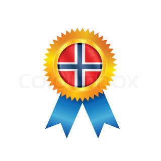 Norway flag on gold medal