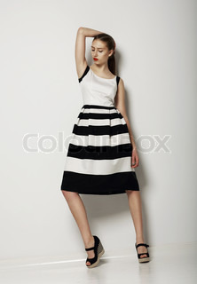 Individualism Confident Young Woman in Contrast Light Sundress