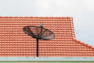 Satellite on the roof in Thailand