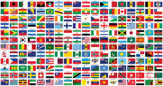 alphabetical world flags