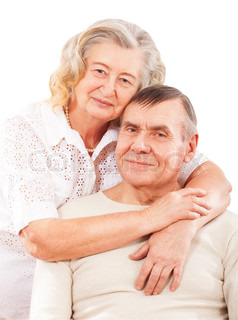 Portrait of smiling elderly couple
